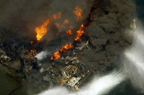oil rig explosion. The explosion at the Deepwater