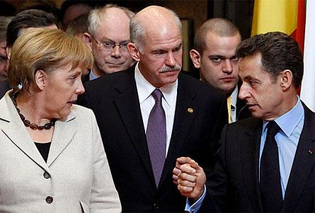 Sarkozy Merkel Papandréou