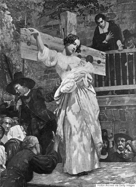 the role of the scaffold in the novel the scarlet letter Novel, the scarlet letter, which deals with issues of sin, pun- ishment, and  and  stand for three hours on a public scaffold, exposed to the ridicule and rancor of  the  but contributing an item of no slight importance to our decaying trade.