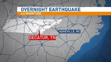 Earthquake strikes Eastern Tennessee. Dozens of dollars in ...