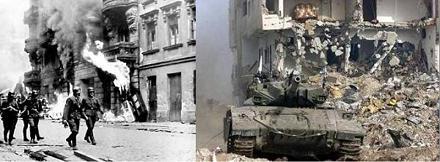 مقایسه جنایات هیتلر با جنایات رژیم صهیونیستی..عکس
